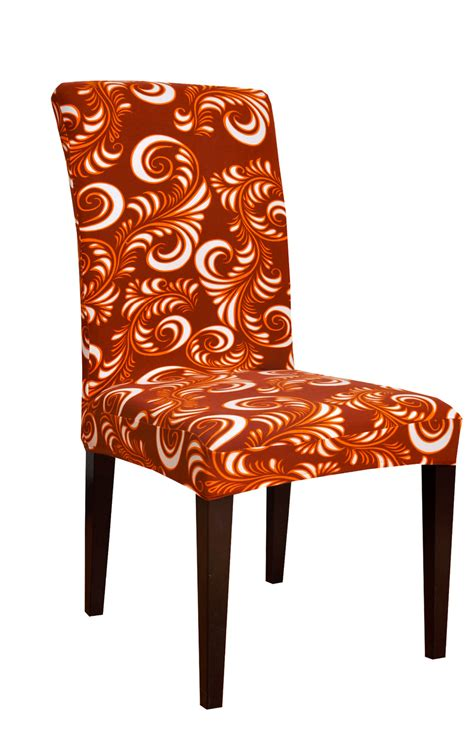 dining room decorate stretch printed fabric chair covers
