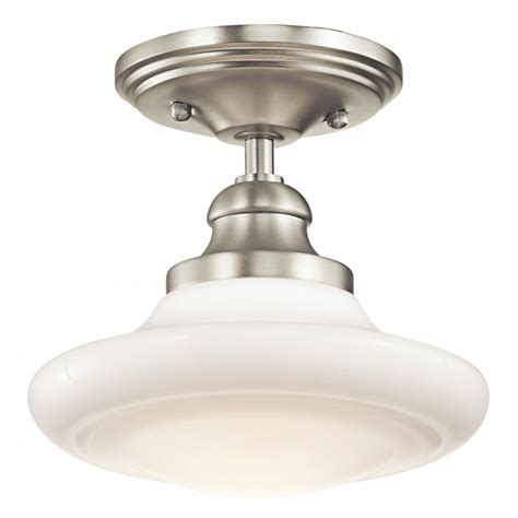 Semi Flush Mount Pendant Lighting Schoolhouse Ceiling Light Fittings In Choice Of Finishes Vintage Look