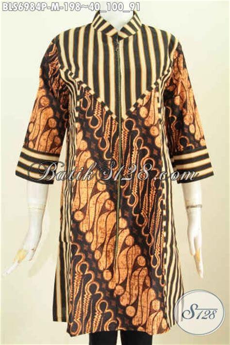 Terusan Daleman Pendek Kode 5906 batik blus halus motif klasik slarak busana batik kerja