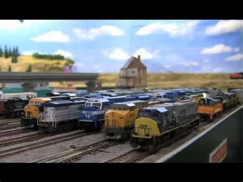 train layout videos youtube a very animated n scale train layout youtube
