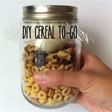 Cereal On The Go by Diy Cereal To Go Handmade Healthy