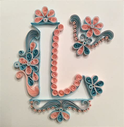How To Make Paper Quilling Letters - letter l in quilling juanita siebenberg quilling