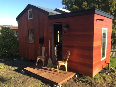 tiny house with deck rooftop deck on this designer tiny house in oakland