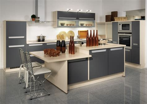 modern kitchen cabinets with cool impression trellischicago