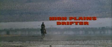 high plains drifter titanic high plains drifter