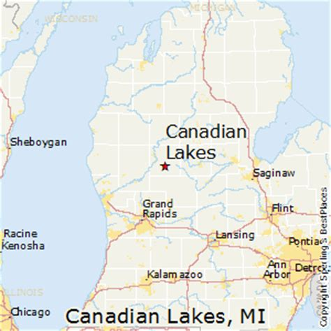 map of canadian lakes best places to live in canadian lakes michigan