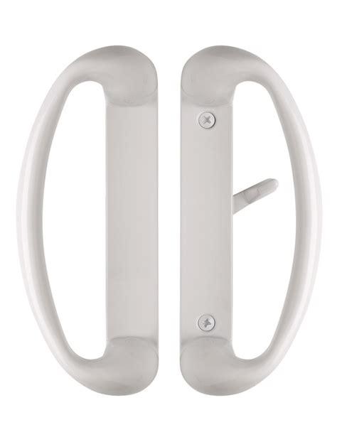 White Sliding Glass Door Handle Cambridge Sliding Glass Door Handle Set In White Color