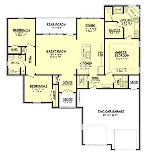 1600 square foot house plans 1600 square feet 3 bedrooms 2 batrooms 2 parking space on 1 levels house plan 52
