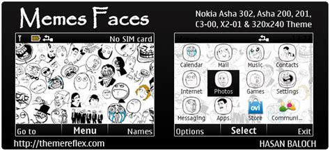 theme maker nokia c3 requested theme memes faces theme for nokia c3 00 x2 01