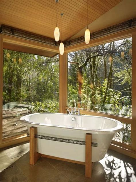 relaxing earthy bathroom designs