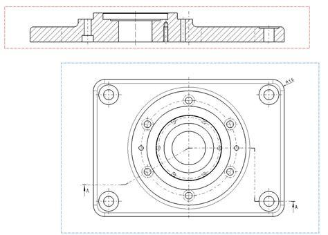 schnitt technische zeichnung schnittverlauf in zeichnung dassault systemes plm