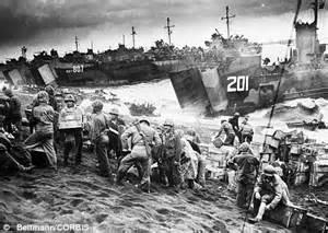 iwo jima: rare photo of us marines celebrating just