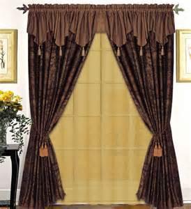 swag fabric shower curtain bathroom set new 5