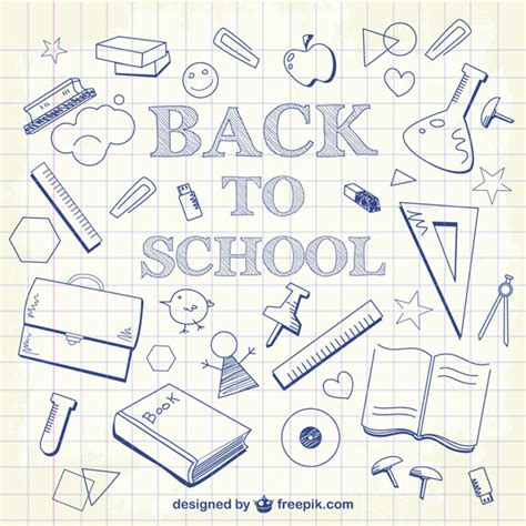free editing doodle back to school doodles background vector free