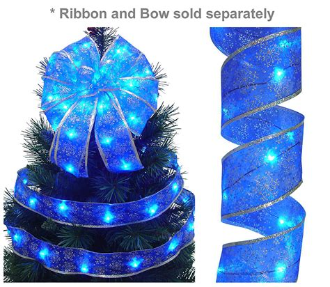 Ribbon Lights Outdoor Starlite Creations 12ft Led D 233 Cor Ribbon Lights 36 Lights Blue Seasonal