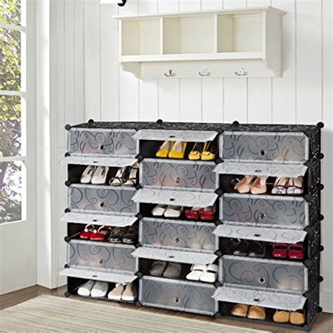 shoe organizer diy langria 18 cube diy shoe rack storage drawer unit multi
