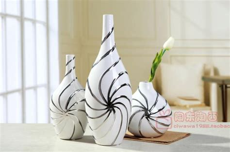 white ceramic home decor jingdezhen ceramic vase ornaments european modern living