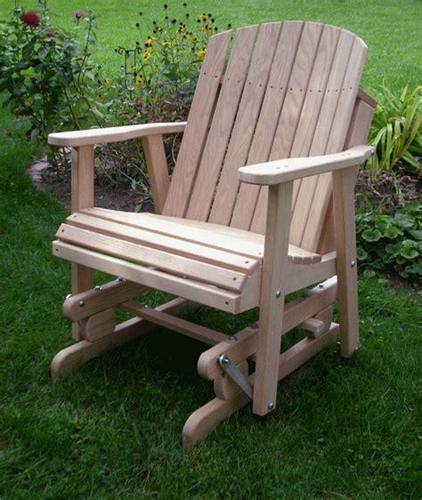 wodden yard glider chair amish oak barrel glider chair