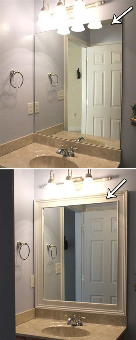 how to add a frame to a bathroom mirror 20 inexpensive ways to dress up your home with molding
