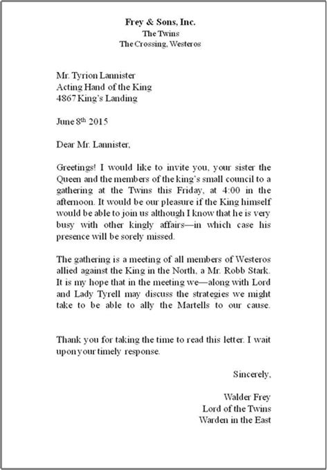 Business Letter Template Layout Standard Business Letter Layout The Letter Sle