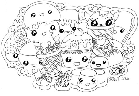 kawaii coloring pages animal coloring pages kawaii food coloring pages