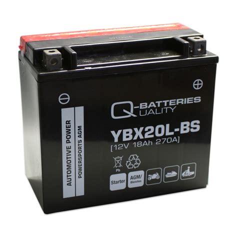 Motorradbatterie 12v 18ah by Q Batteries Motorrad Batterie Ybx20l Bs Agm 12v 18ah 270a
