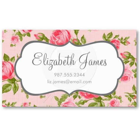 girly business cards templates free girly chic vintage roses with linen texture business card