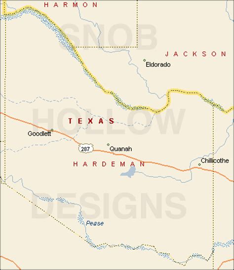 quanah texas map hardeman county texas color map