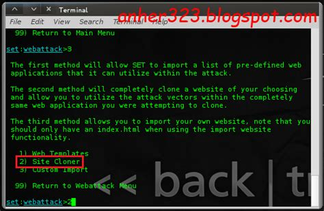 kali linux set toolkit tutorial phising dengan se toolkit kali linux anherr blog s