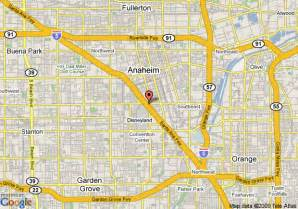 map of hotel menage anaheim