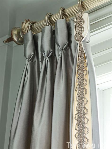 curtain trim goblet pleat silk panels with trim decorating curtains