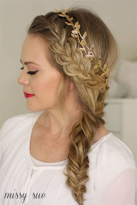 designer hairstyles images elegant fishtail french braid hairstyles designs for