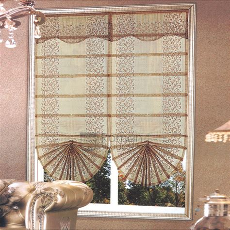 fan shaped window shades vintage embroidery fan shaped window shades with valance