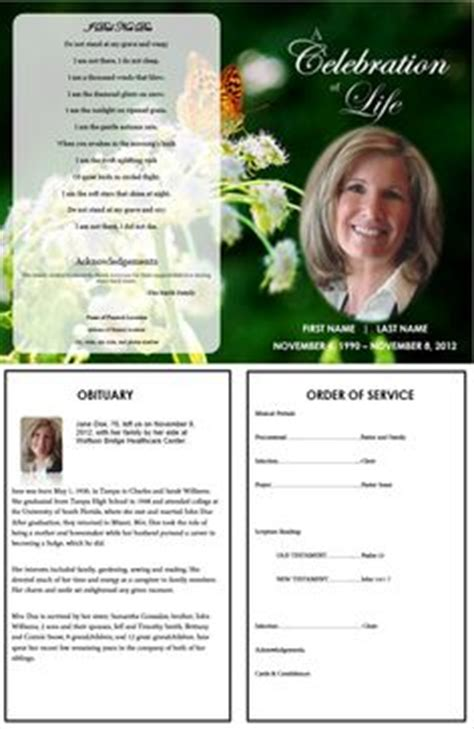 section 236 program 1000 images about printable funeral program templates on