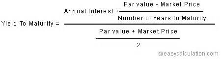 P Value Formula by Yield To Maturity Ytm Formula Finance