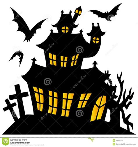 Haunted House Clipart by Printable Haunted House Silhouette Www Imgkid The
