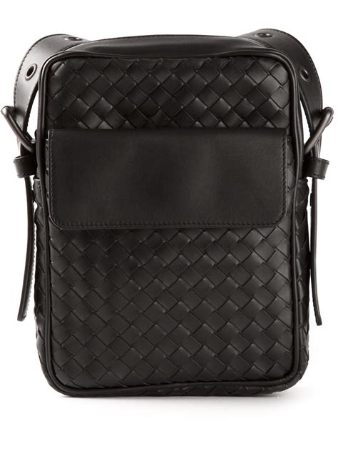 Bottega Veneta Woven Briefcase by Bottega Veneta Woven Small Messenger Bag In Black For