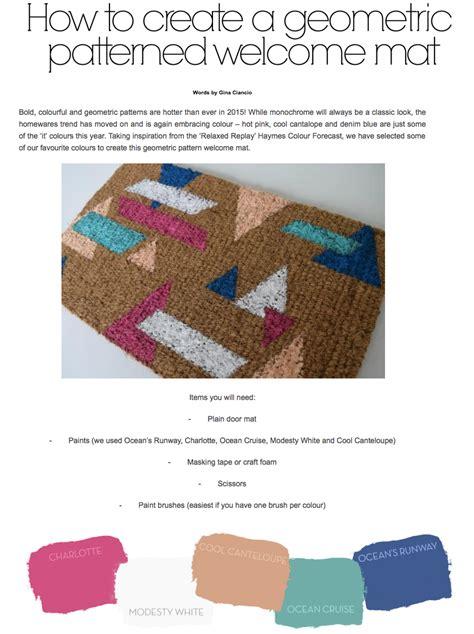 create geometric  mat