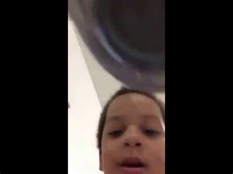 devil kid records himself running water on his moms phone