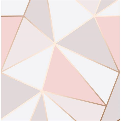 fine decor  sq ft arken rose gold geometric