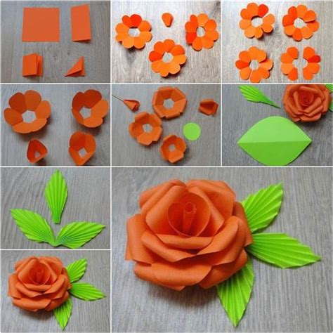 How To Make A Flower In Paper - how to diy easy paper flower