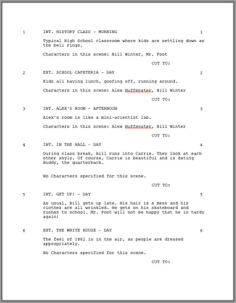 screenwriting templates screenplay format image search results