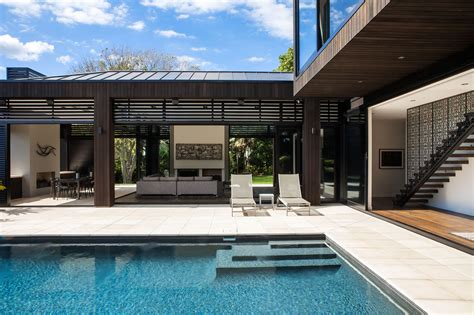 modern home design with pool series of block volumes modern house design archinspire