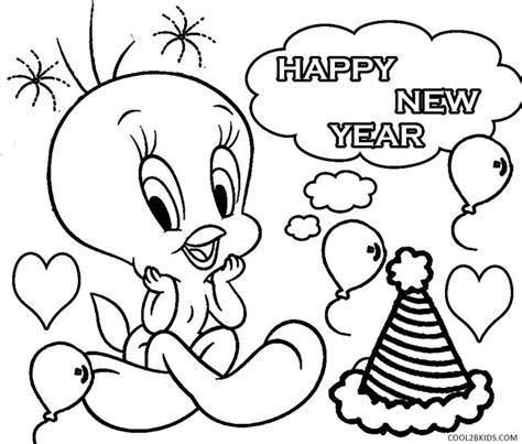 printable coloring pages for new years printable new years coloring pages for kids cool2bkids