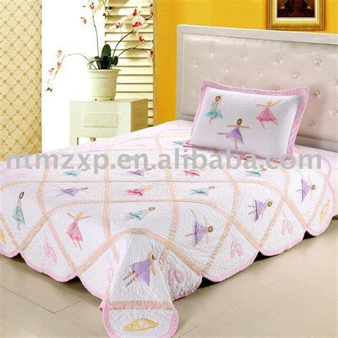 Handmade Bedspreads - ballerina applique bedding set quilt bedspread comforter