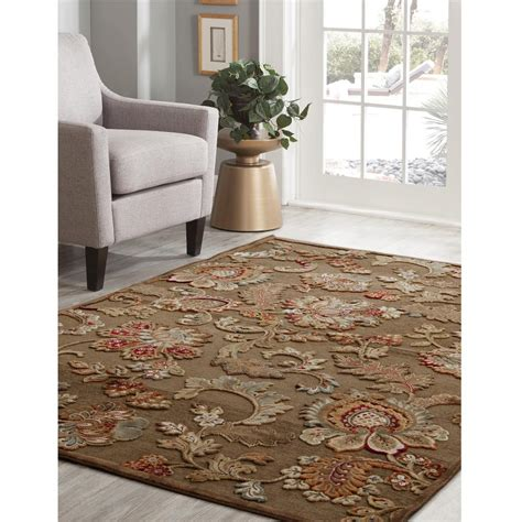 sams area rugs sams international napa fulton brown 5 ft 3 in x 7 ft 6 in area rug 6052 5x8 the home depot