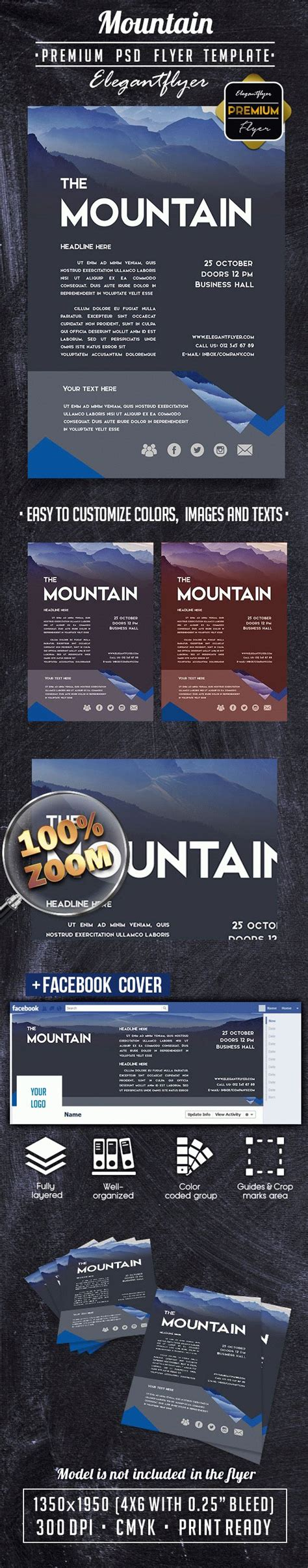Premium Flyer Templates mountain premium flyer psd template cover by