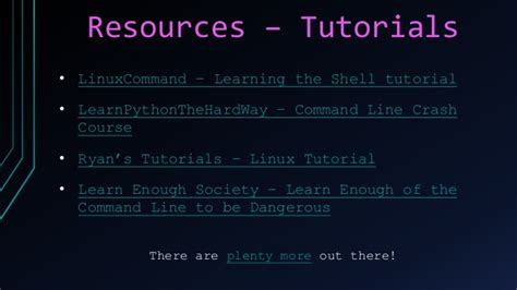 linux tutorial ryan command line 101
