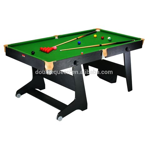 Folding Pool Table 8ft 6ft Folding Pool Table Billard Table With Green Cloth Buy Fold Up Pool Table Folding Pool