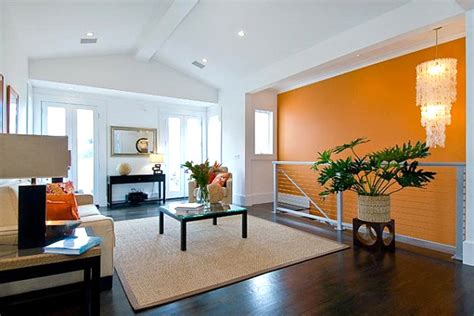 orange accent wall living room bright orange accent wall decoist